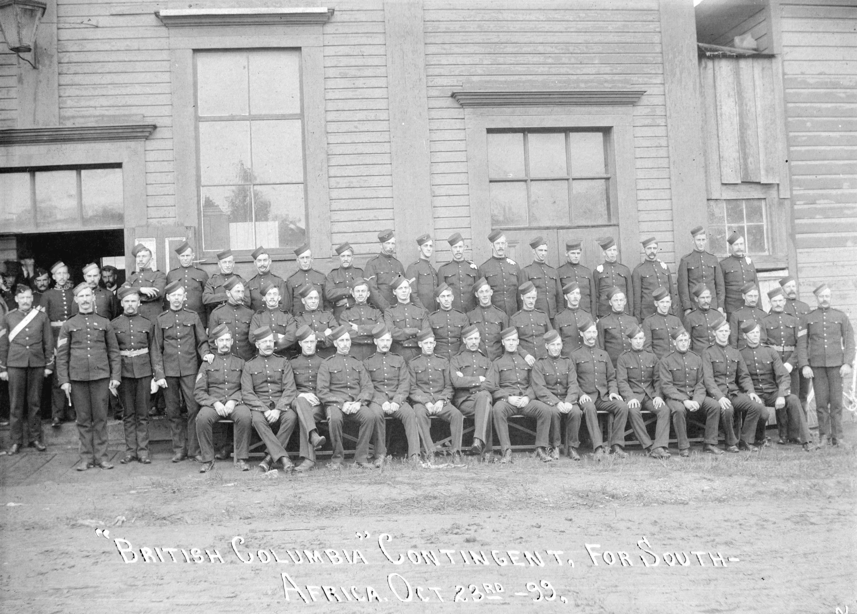 """British Columbia"" Contingent for South Africa Oct. 23, 1899  D871768c-d438-4f9b-8701-4906616a0fa8-A41404"
