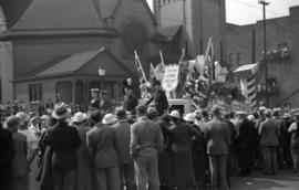 [British Israel float in the Vancouver Golden Jubilee parade]
