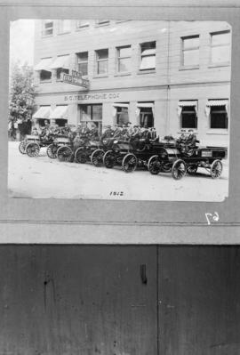 B.C. Telephone Company office [and vehicles at 555 Seymour Street]