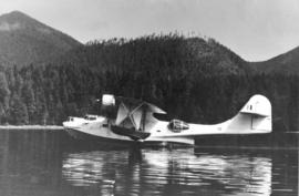 [Catalina Patrol Bomber float plane on the water]