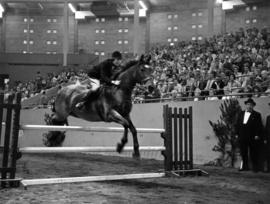Show jumping in 1964 P.N.E. Horse Show in Agrodome