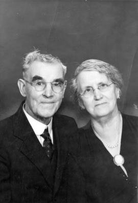 [Mr. and Mrs. G.W. Jamieson on their diamond (60th) wedding anniversary]