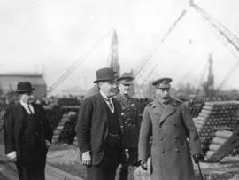 [King George visits a munitions factory]