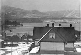 [View looking north from the residence of E.B. Herman at 1287 Robson Street]