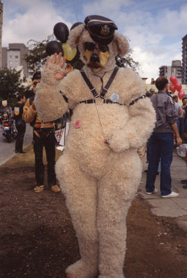 PWCC - parade, breakfast [bear costume]