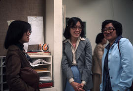 Brenda Cha, Judy Chan and Ruby Mah at Betty Lee Sung lecture