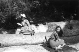 At Larabee State Park : [Beatrice Timmins and woman]