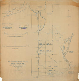 Plan showing road traverse and levels Agassiz to Harrison Lake