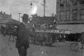 [The No. 2 chemical fire wagon in the Labour Day parade]