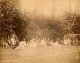 [The grass tennis court at Benjamin Springer's residence]