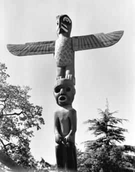 Totem pole [in] Thunderbird Park
