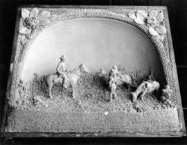 Central Creameries butter carving of cowboys and Indians