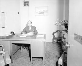 Portrait - Mr. L. Churchfield, Manager of Martin Hotel