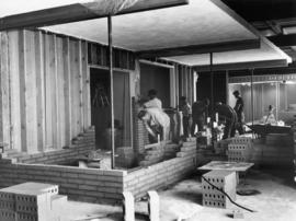 Construction of display room in Manufacturers' building