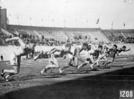 Percy Williams in 100 Metre Final Olympic Games