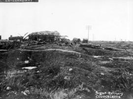 54th Canadians [showing ruins of] Sugar Refinery, Courcelette