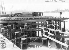 "Oriental Pier [Construction progress photograph of the CPR ""A""]"