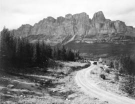 [Castle Mountain from Windermere Road in Banff National Park]