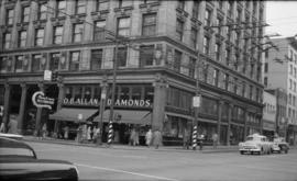 [O.B. Allan store, corner of Granville and Pender Streets]