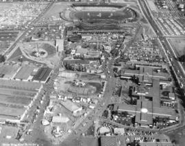Aerial view of Hastings Park and Playland