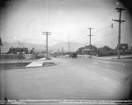 [View of Granville Street, looking north from Angus Street]