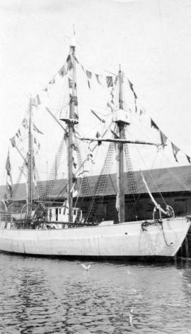 "[The Hudson's Bay Company's M.S. ""Baymaud"" at the Evans, Coleman and Evans dock]"