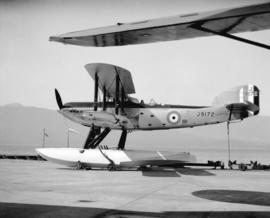 Fairley III F Mk IV G.P. seaplane RCAF #J9172 at Jericho.  The sole British-built Fairley III F t...