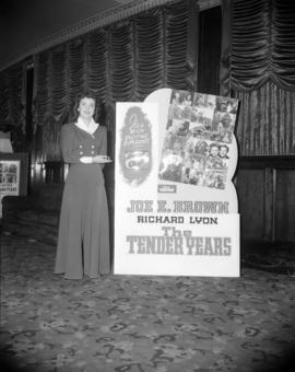 "[Movie poster advertising ""The Tender Years"" at the Strand Theatre]"