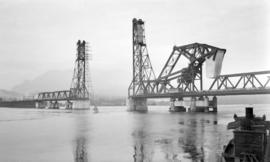 2nd [Second] Narrows Bridge [before the vertical lift span was in place]