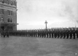 29th Battalion and Yukon Detachment [troops outside C.P.R. station]