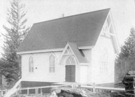 [The first Presbyterian church on Westminster Road at Central Park]