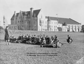 Postcard of Seaforth Highlanders Armoury in training, September 1939
