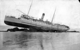 "C.P.R. Co. S.S. ""Princess May"" wrecked on Sentinal Is, Alaska, Aug 5 1910"