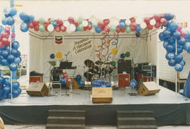 Chevron Stage at Playland for Tillicum's birthday party