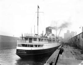 "[S.S. ""Catala"" - Stern View, docked at Union Wharf]"