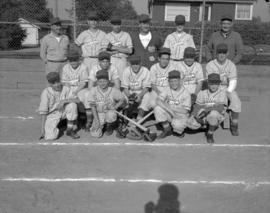 "[Baseball team wearing ""Waldorf Hotel"" shirts]"