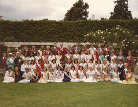 1976 fair : [group portrait of 1976 Miss P.N.E. contestants and organizers]
