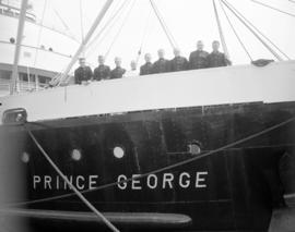 "[The crew of the ""Prince George"" on the ship's deck]"