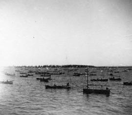 [Japanese fishing boats at mouth of the Fraser River]