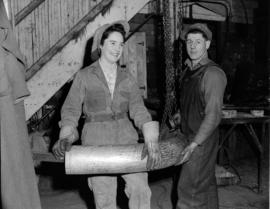 Burrard Shipyard - [left to right] Miss Fauna Tomlinson - Coppersmith's Helper and Glen Arch...