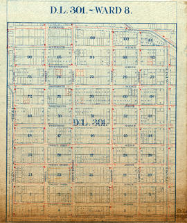 D.L. 301 - Ward 8 [location of water pipes and hydrants]