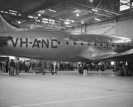 "Airliner ""Warana"", A.N.A. [Australian National Airways], second trip from Australia - C..."
