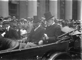 Lord Byng [in open car with Mayor C.E. Tisdall]