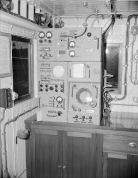 [Equipment on the bridge of a Union Steamships vessel]