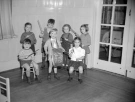 [Children having a music lesson at the Preparatory School for Little Children]