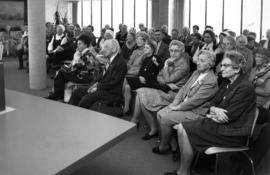 Incorporation Day celebration, Vancouver Pioneers listening to speeches