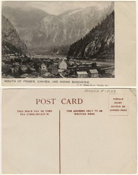 Mouth of Fraser Canyon and Indian Rancherie