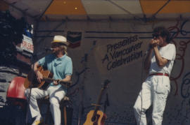 Band performing on Chevron Stage