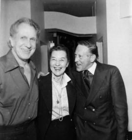 Vincent Price, unidentified woman and Hugh Pickett