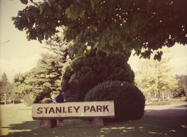 Stanley Park, wooden sign
